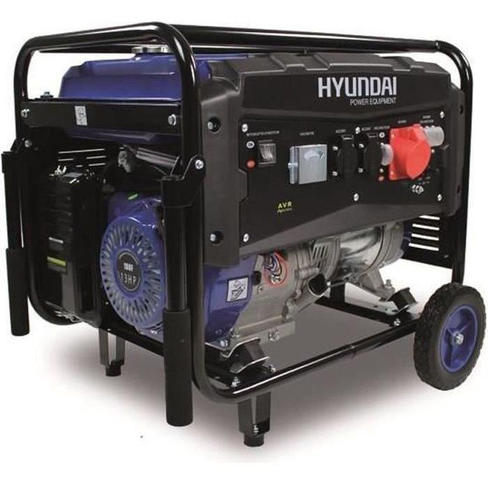 HYUNDAI Groupe électrogène à essence de chantier HG5500 - 5000 W à 5500 W - Système AVR - Bleu et noir