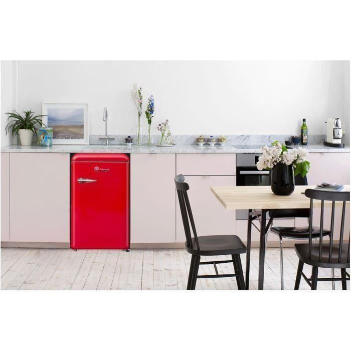 TRIOMPH TLTT118R - Réfrigérateur Vintage Table Top - 118L (106 + 12) - Froid statique - A++ - L 55 x