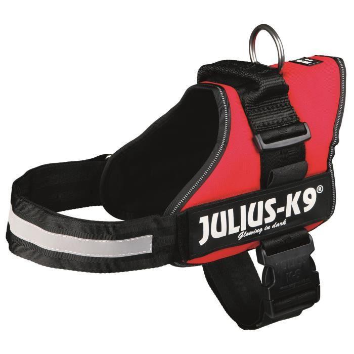 Harnais Power Julius-K9 - 1 - L : 66-85 cm-50 mm - Rouge - Pour chien