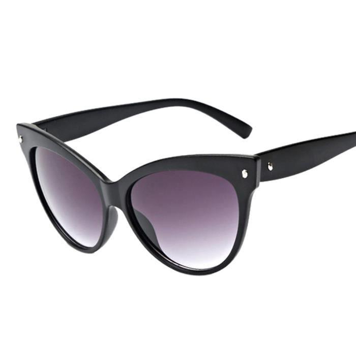 cd Unisexe de 9110 Lunettes Mode lentille soleil Aviator Vintage Retro noir  Hommes Femmes Lunettes miroir ... 08e6157ac0ac