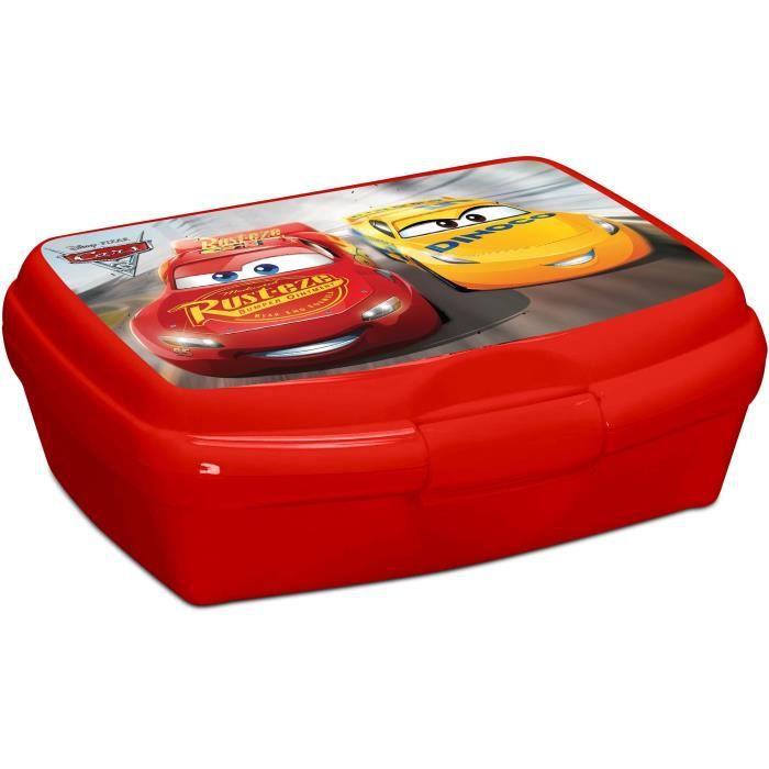 CARS Boîte à Goûter - 15x25x12 cm - Rouge