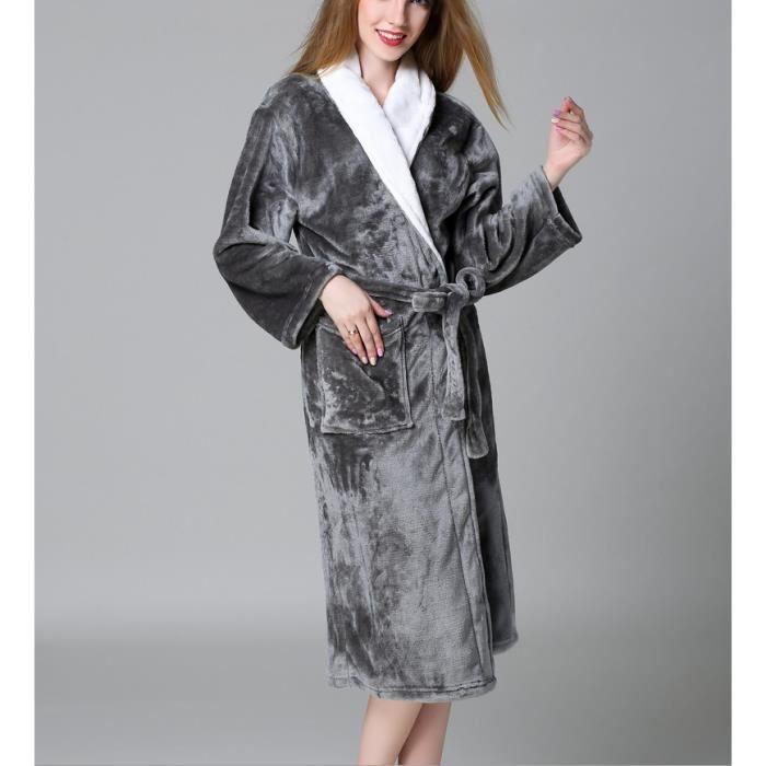 la réputation d'abord où acheter apparence élégante 1PCS Robe Kimono de nuit pour Femme et Homme-gris