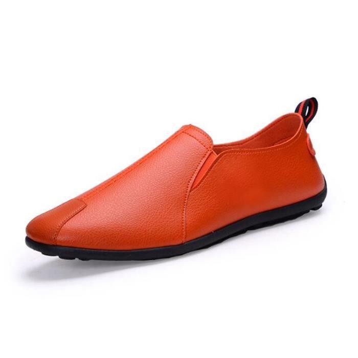 Luxe doux Taille Fond chaussures Moccasin Chaussure En nouvelle Mode Léger Marque 2017 Poids Moccasins De homme Cuir hommes Grande ZgwqxT0