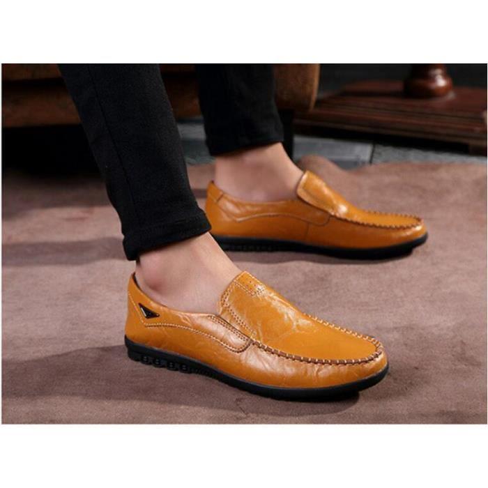 Casual Peas Chaussures Chaussures en cuir Hommes Mocassins Appartements pour hommes Chaussures de conduite