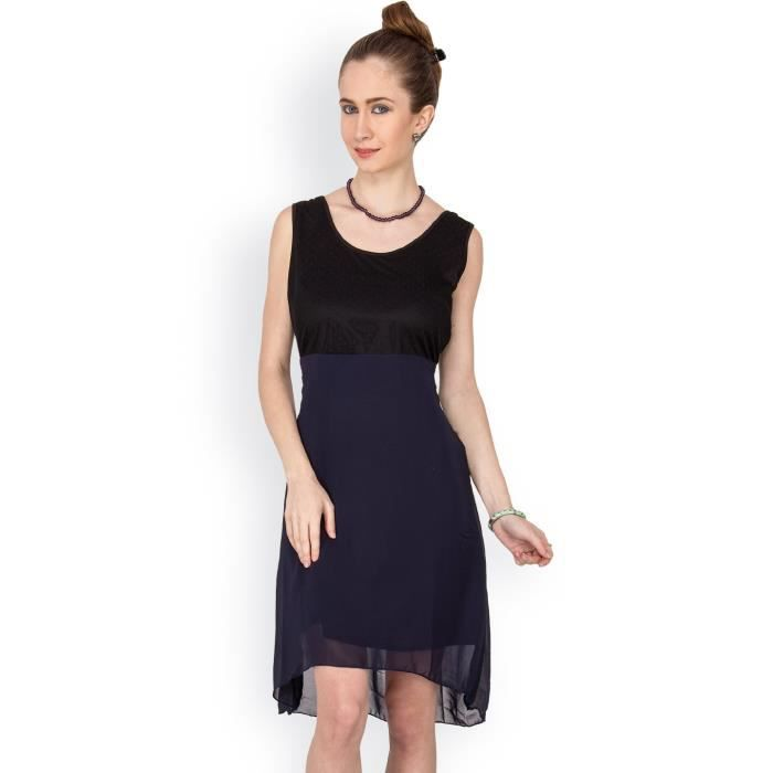 Womens Solid Sleevless Shift Dress O3HK8 Taille-38