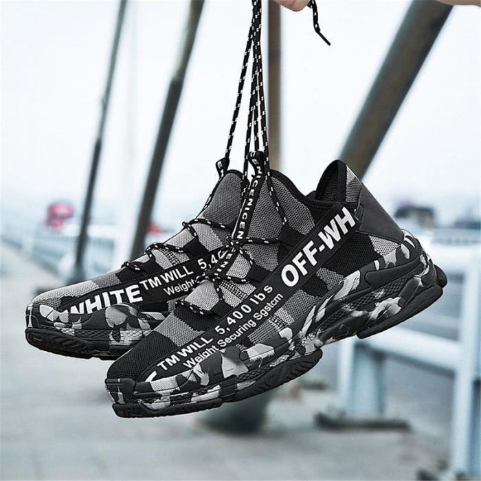 design de qualité 33c5e 8e55a 2019 Homme Chaussures de Course Sneakers Pour Hommes Confortable Sport  Chaussures Hommes Tendance Chaussures de Marche Respirant