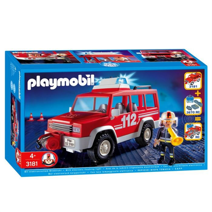 Playmobil pompier 4x4 d 39 intervention achat vente - Playmobil de pompier ...