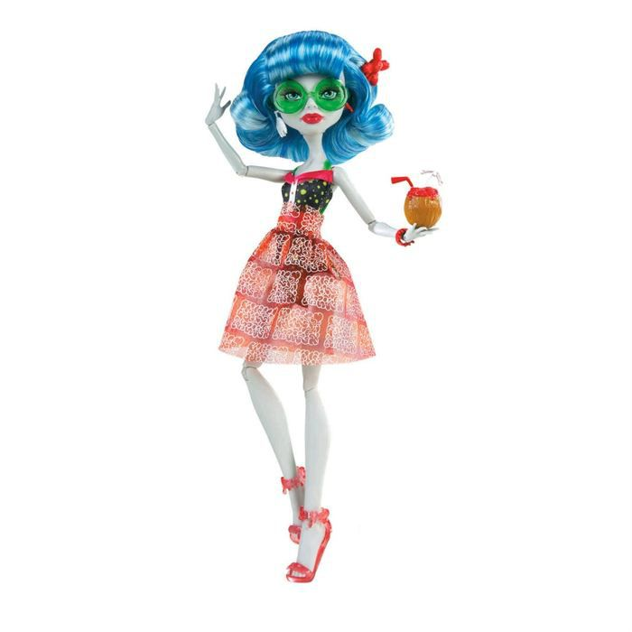 Monster high tenue plage ghoulia achat vente poup e cdiscount - Tenue monster high ...