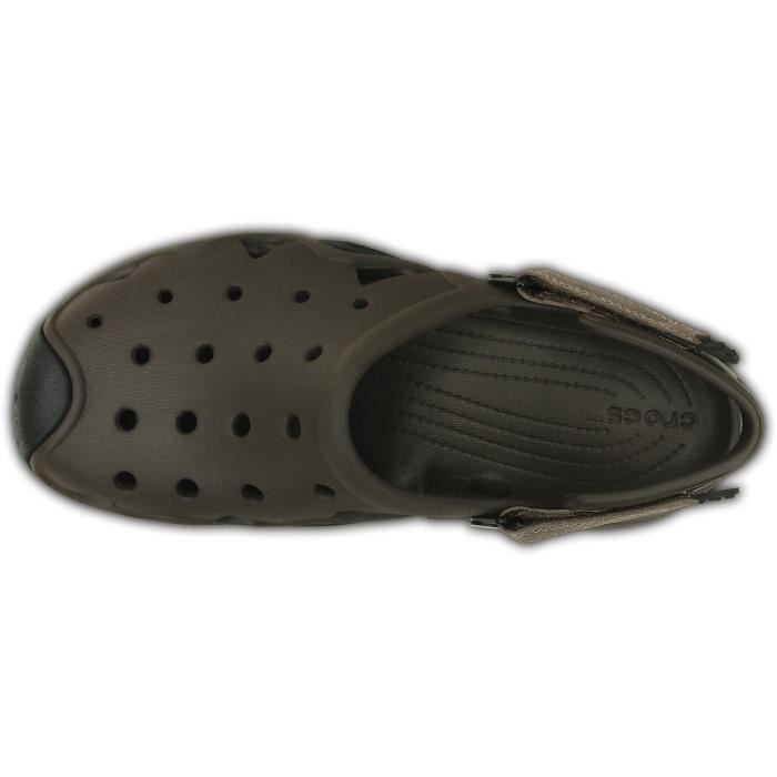 Crocs Sandales Swiftwater Homme Espresso-Clay