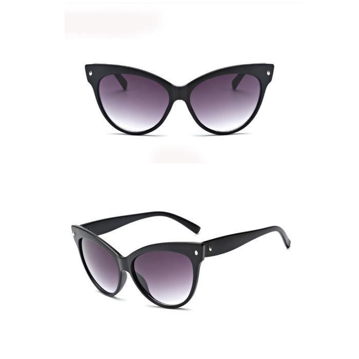 cd-9110 Femmes Hommes Vintage Retro Lunettes Mode Unisexe Aviator Lunettes de soleil miroir lentille noir