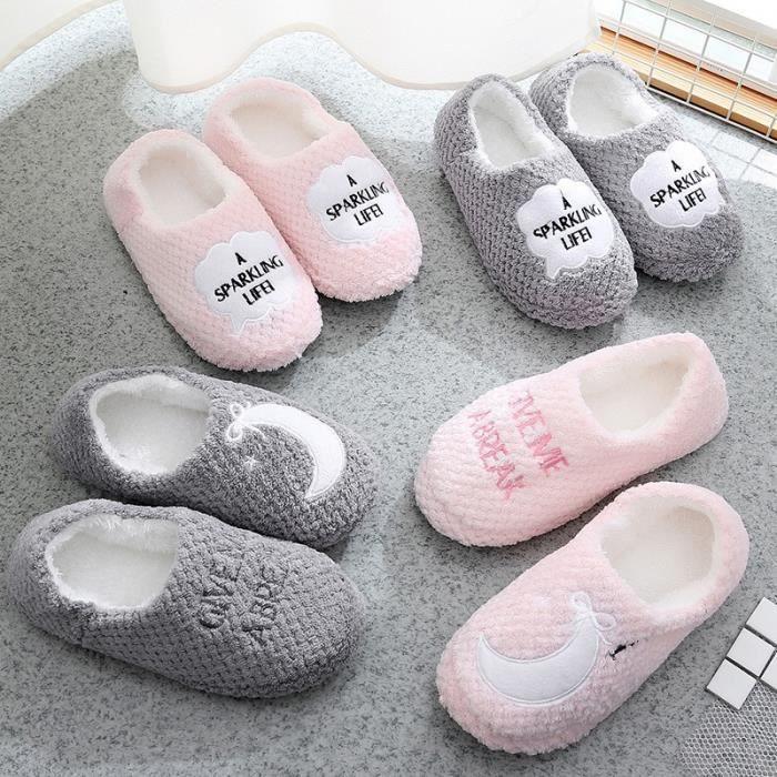Automne et hiver nouvelles dames chaussures en coton maison à domicile non - glissement pantoufles en coton à carreaux d'ananas