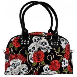 SAC À MAIN sac a main tête de mort et roses. gothique métal h 065b31852f60
