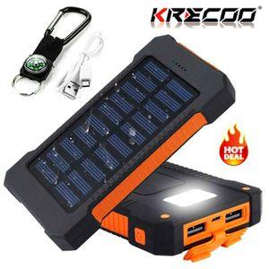 BATTERIE EXTERNE KREKCO20000 mAh Mode Extérieure LCD Power Bank Dou