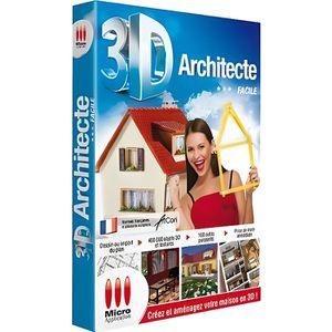 BUREAUTIQUE Logiciel PC MICRO APPLICATION 3D Architecte F