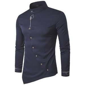 CHEMISE - CHEMISETTE 6495@ Mens manches longues Oxford Costumes Casual ... ad6138e5574