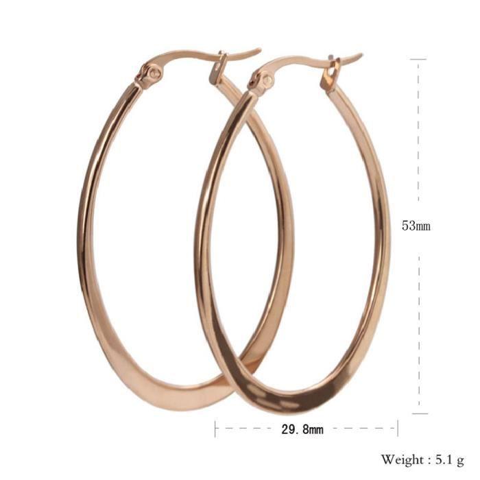 Boucle d'oreille grand anneau