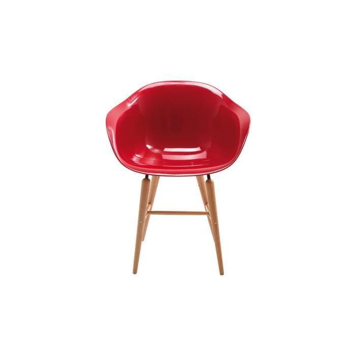 Chaise avec accoudoir rouge achat vente chaise avec for Chaise rouge fly