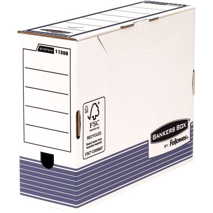 boite archive carton dos 10cm achat vente boite archive carton dos 10cm pas cher cdiscount. Black Bedroom Furniture Sets. Home Design Ideas