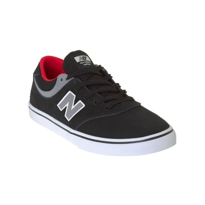 Chaussure New Balance Numeric Quincy 254 Noir-Gris-Rouge 8evGD7s8mN