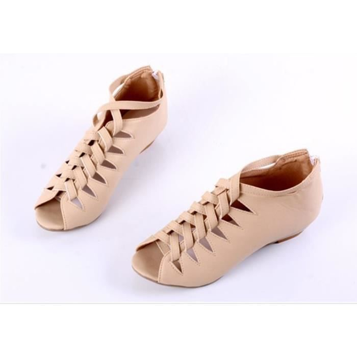 Sandales femmes mode Piaulement Orteil wedges talon été retour zip