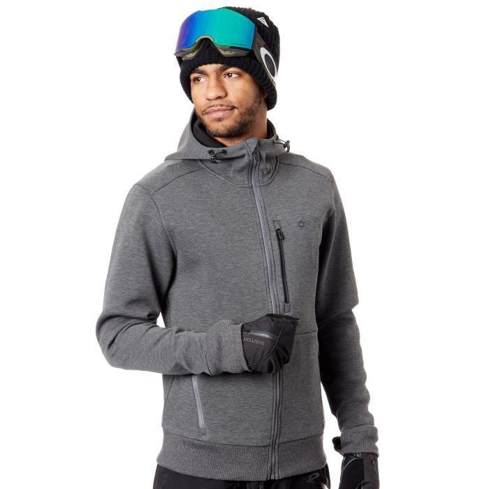012647ede9f262 Sweat à capuche zippé Snowboard Oakley Scuba Forged Iron Gris Gris ...