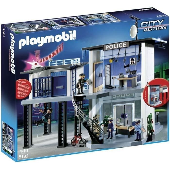 Playmobil 5182 commissariat de police achat vente univers miniature cdiscount - Playmobil camion police ...