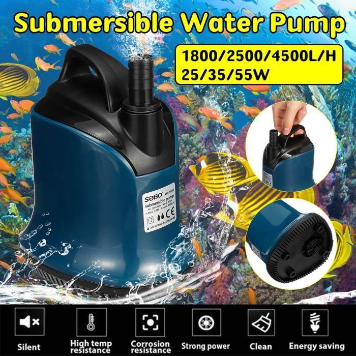 Tempsa 220-240v Pompe Aquarium Submersible Fontaines Fish Pond 25w 1800l/h