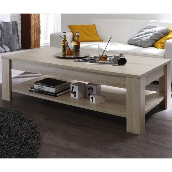 pas cher pour réduction 6d5b2 80da4 Table basse Chêne blond - RUBBEN - L 140 x l 68 x H 45 cm
