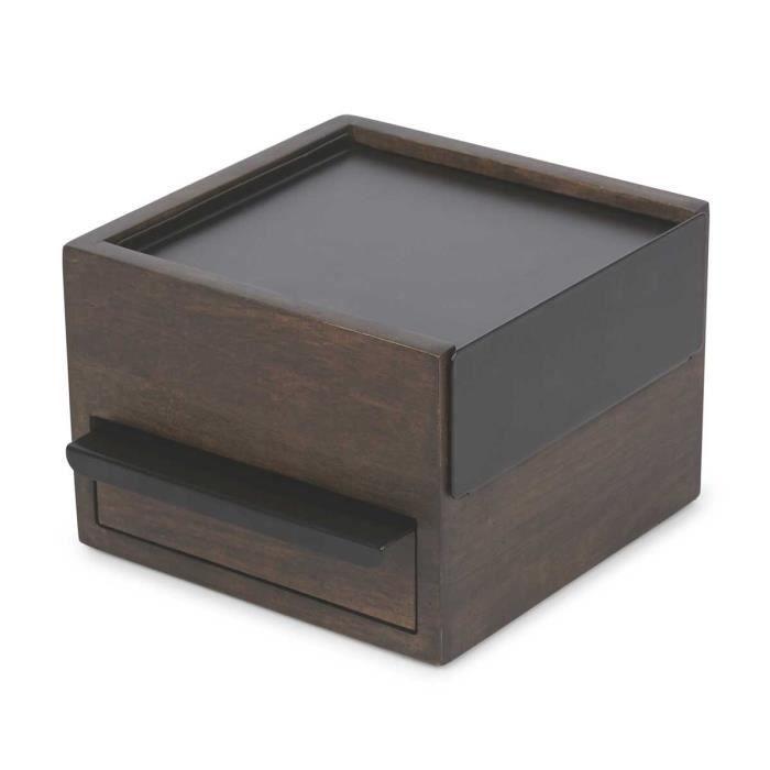 Boîte à Bijoux Stowit Mini Noyer/Noir Noyer,Noir