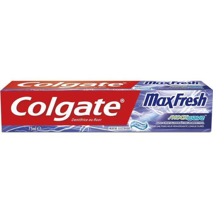 DENTIFRICE COLGATE Dentifrice Maxfresh Skockwave - 75 ml