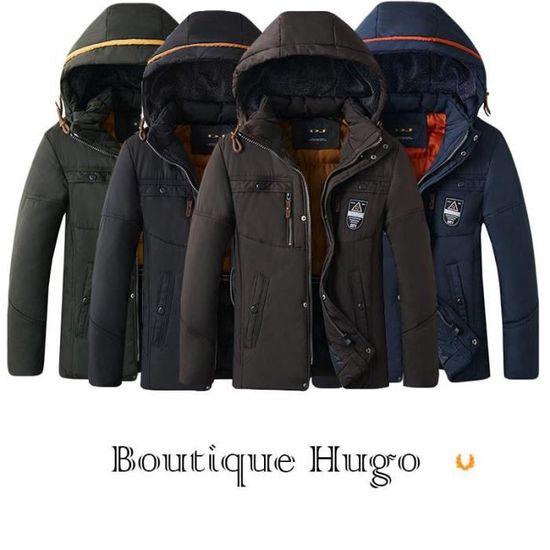 Capuche Epais Hiver Fashion Veste De Vêtements Boutique Chaud Homme Hugo Démontable À blouson 7pt8xYBxqw