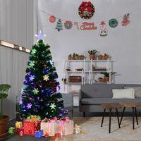 SAPIN - ARBRE DE NOËL Sapin de Noël Artificiel LED Lumineux 120cm en Fib