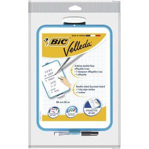 BIC Surface effacable ? sec mini tableau velleda 24x33 cm - Bord bleu
