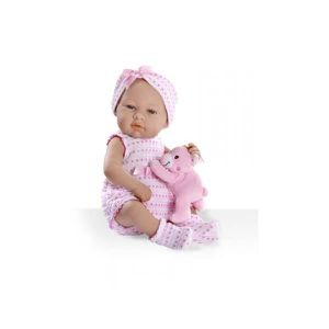 POUPÉE ARIAS Poupon Real Baby bleu avec petit ours - 42 c