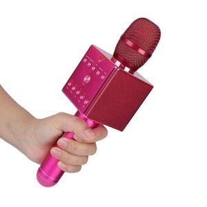 HAUT-PARLEUR - MICRO Eiffel Microphone Bluetooth de karaoké à réverbéra