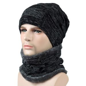 Unisexe Hommes Femmes d hiver Bonnet écharpe Chaud Régle Bonnet avec ... a28c9851e80