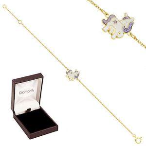BRACELET , GOURMETTE Bracelet licorne or 750