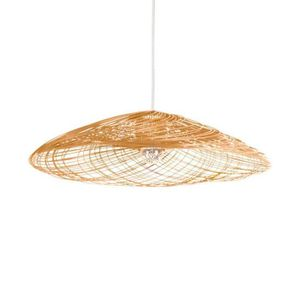 LUSTRE ET SUSPENSION SATELISE-Suspension Rotin Ø70cm naturel Forestier