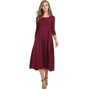 48b5cf0fa1f5a ROBE robe femme fille 3-4 Sleeve Casual Loose