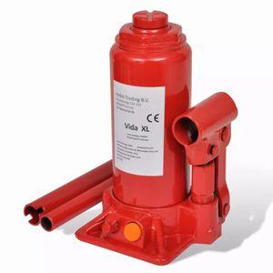 CRIC Cric hydraulique pour voitures 5 tonnes Rouge