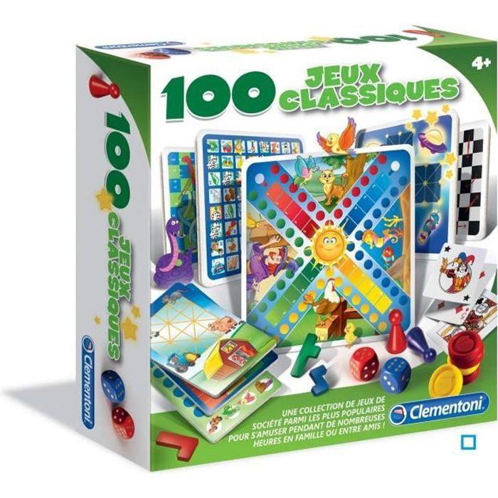CLEMENTONI - 100 jeux classiques - Mixte - Livré à l'unité - A partir de 4 ansJEU D'APPRENTISSAGE