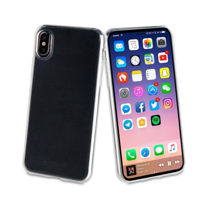 MUVIT Coque pour smartphonr crystal soft - Apple Iphone X