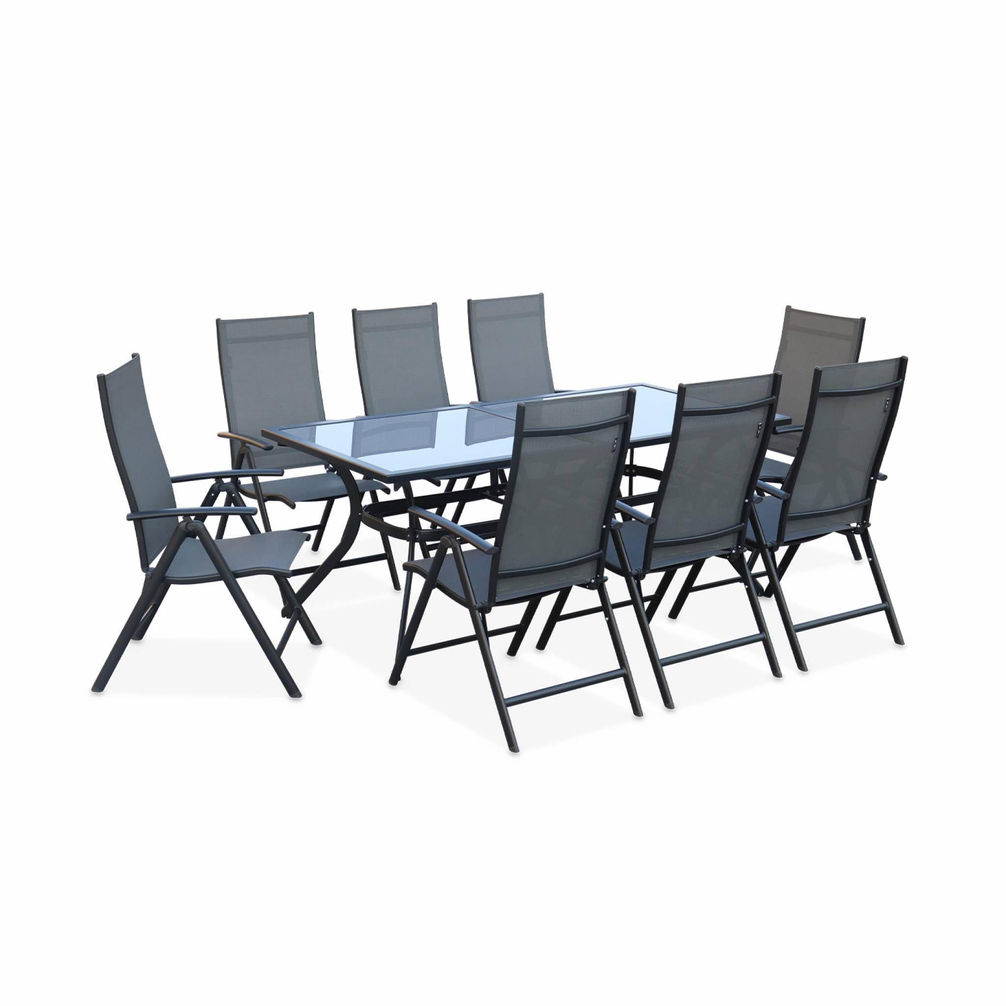 Salon de jardin : table 190cm et 8 fauteuils - Achat / Vente ...