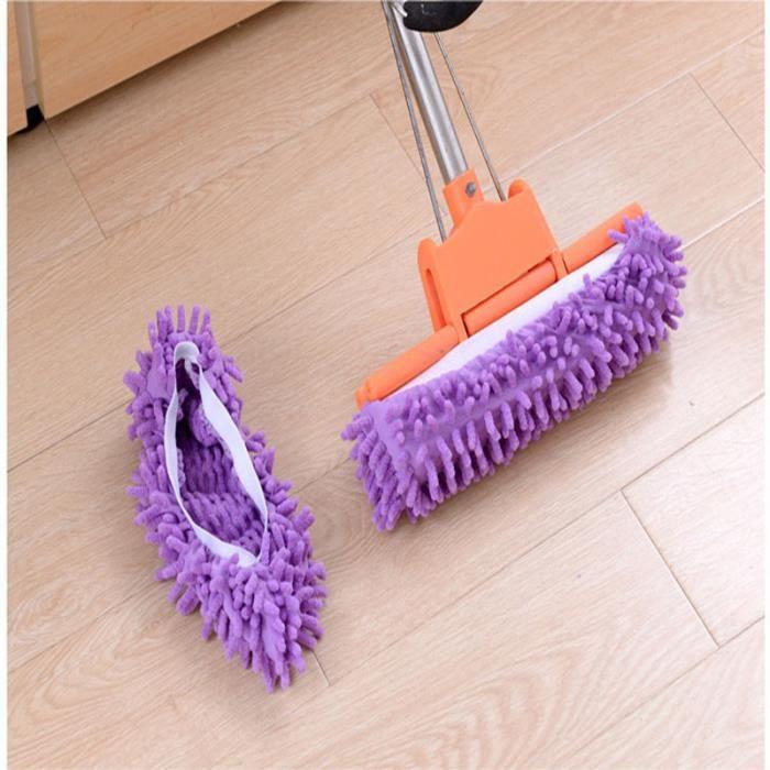Housse de chaussure Elastic Pantoufles Parfait pour nettoyer les poils de poussière 1 Pairs