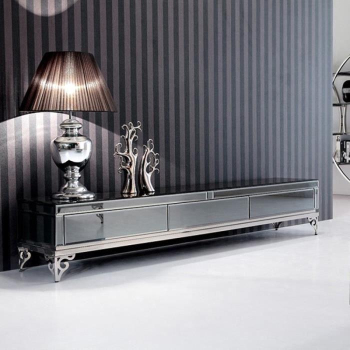 meuble tv miroir achat vente pas cher. Black Bedroom Furniture Sets. Home Design Ideas
