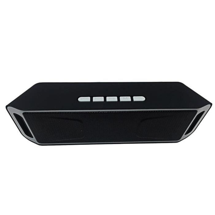 Gris- Mini Portable Stéréo Boîte De Haut-parleur Bluetooth Sans Fils Sc208
