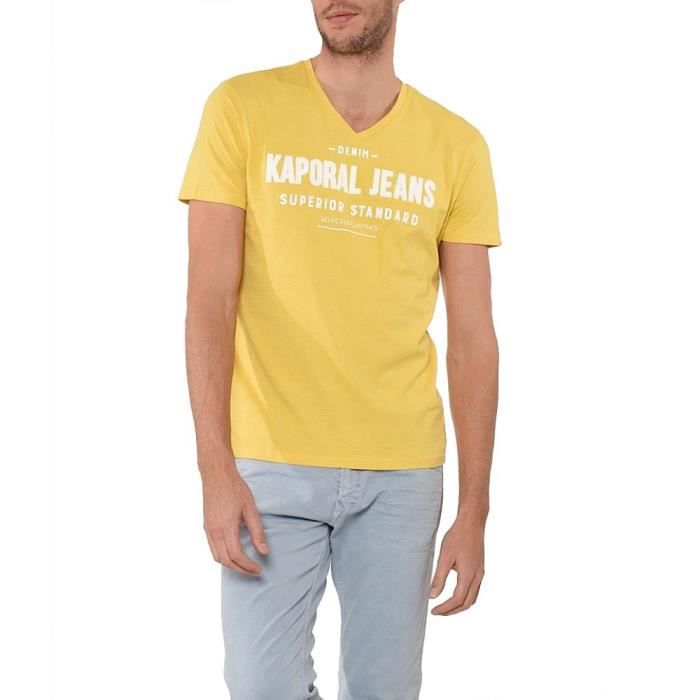 e6f5f857c0e2 t shirt moutarde homme - www.goldpoint.be