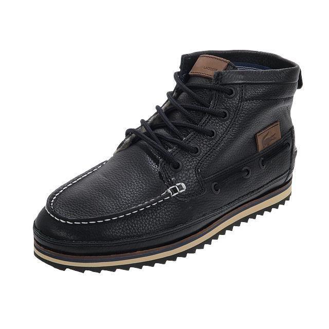 Lacoste Achat Chaussures Noir Cuir Sauville Montantes qwwSzUv