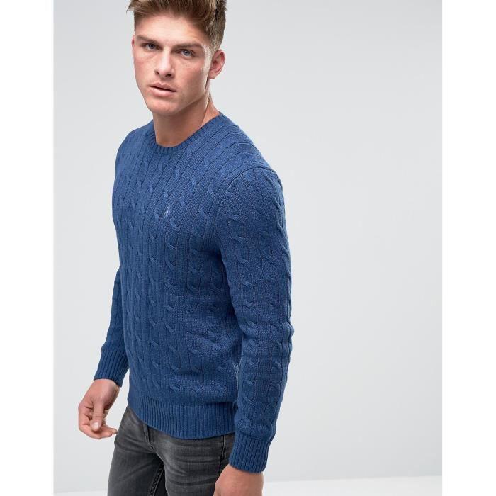 Polo Torsadé Mal9v Homme Coton Lauren Pour Ralph En Bleu Pull Marine qMVSUzp