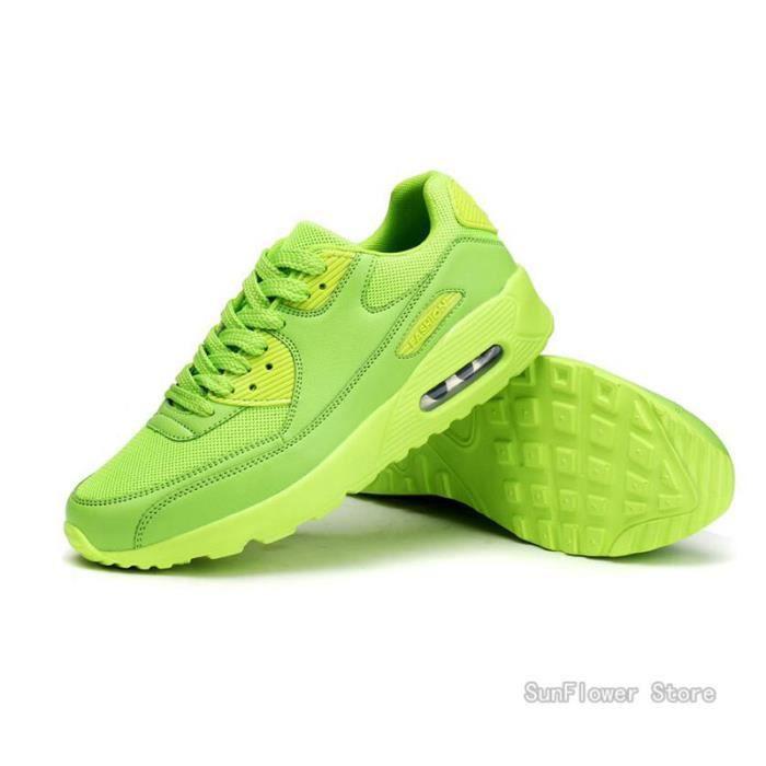Vert Respirante Femme Chaussures et Baskets Sport Course pour Homme IRZTrqxR